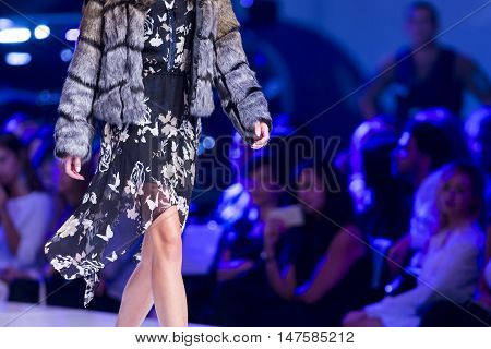 Sofia Fashion Week Female Furry Jacket