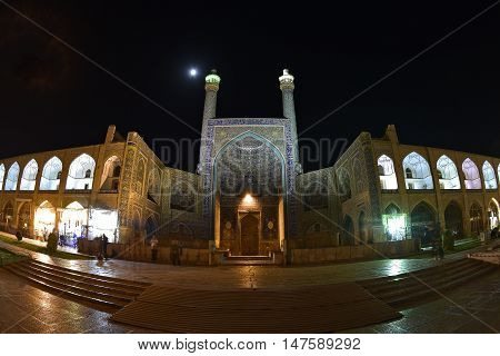 Imam Mosque and Shaik Lotfollah Mosque in Nakshe Square in Isfahan, Iran at September 15, 2016.