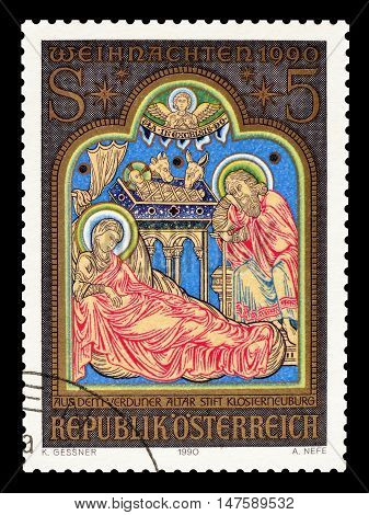 AUSTRIA - CIRCA 1990 : Cancelled postage stamp printed by Austria, that shows religious motive.