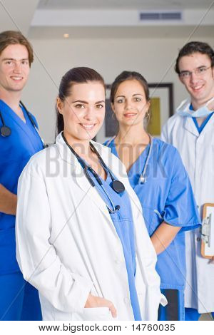 young hospital interns