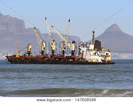 Ship Run Aground, Blouberg Strand, Cape Town South Africa 03c