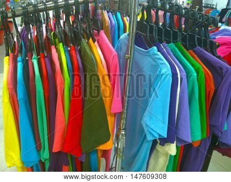 The Secondhand clothes in the local market