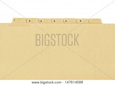 Vintage Looking File Folder