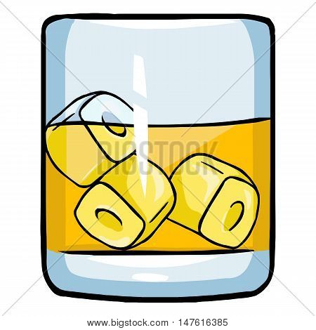 Vectror Cartoon Glass Of Whiskey