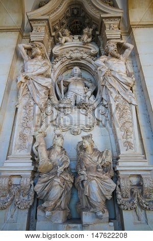 Allegorical Figures Of The University Of Coimbra