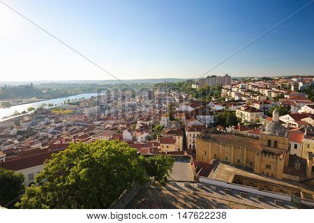 View On The Historic Center Of Coimbra, Portugal