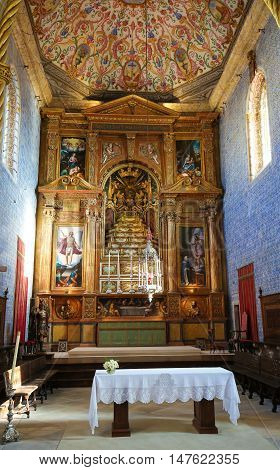 Sao Miguel Chapel In The University Of Coimbra, Portugal.