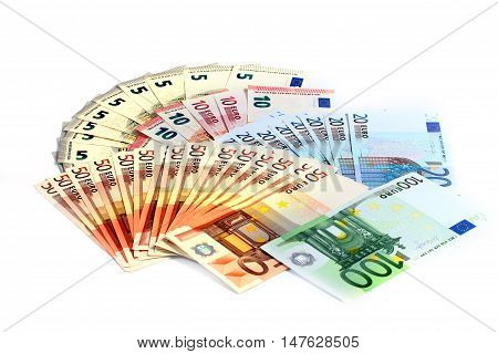 Euro banknote paper as part of the economic and trading system