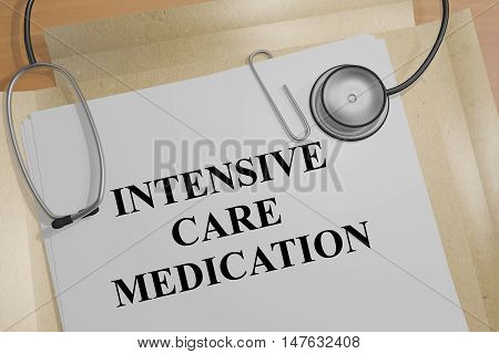Intensive Care Medication Concept