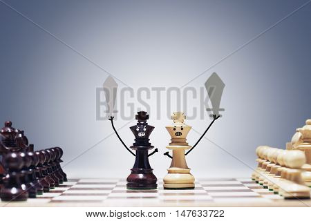 Chess game of war