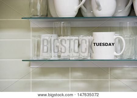 Mug on shelf