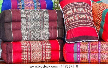 Tradition native Thai style pillow. pillow Multiple style