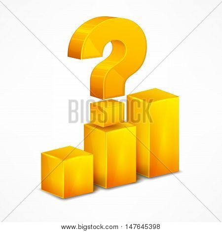 Yellow Chart With Question Mark On White