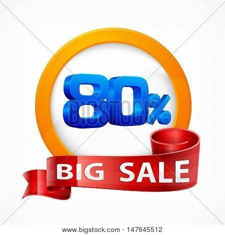 Big Sale Inscription Label