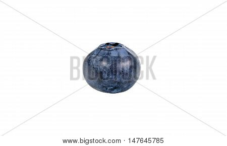 Blueberry on a white background with clipping path