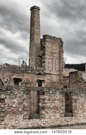 Port Arthur the old convict colony and historic jail located in Tasmania, Australia