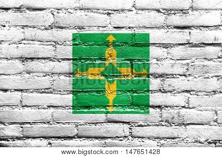 Flag Of Distrito Federal, Brazil, Painted On Brick Wall