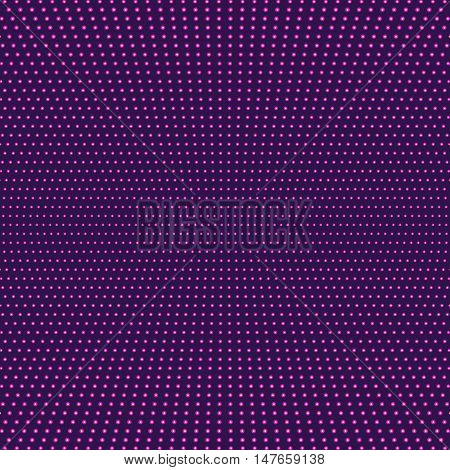 Purple fuschia abstract background. Magenta minimal design of luminous points. Symmetrical light background, Vector illustration