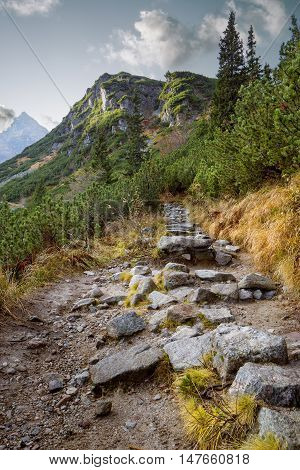 Hiking trail in Tatra National Park Poland