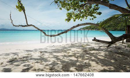 Beautiful beach of Raya island near Phuket island Thailand