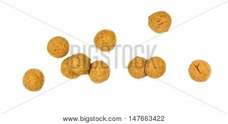 Bunch Of Scattered Ginger Nuts From Above