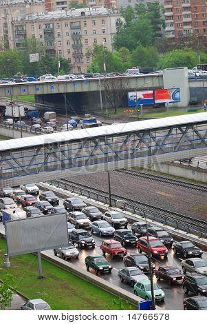 Traffic Jam during rush hour