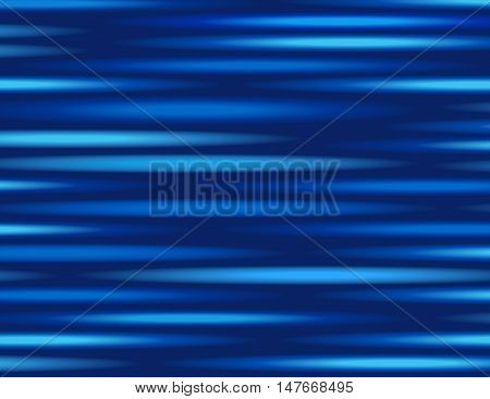 digitally generated image of blue light and stripes moving fast over black background . speed vector