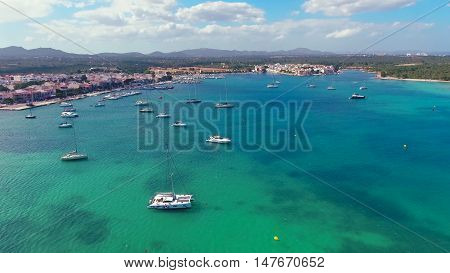 View of the beach Cala D`or, Mallorca