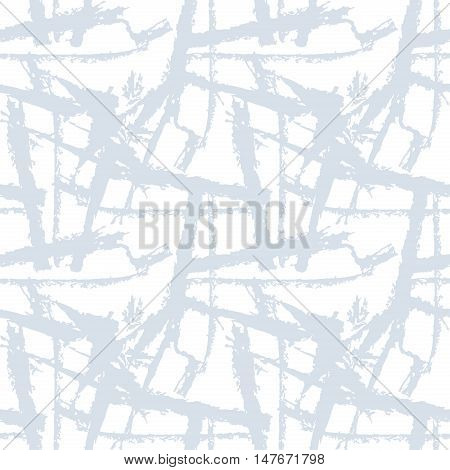Stock vector abstract seamless pattern. Monochrome texture from brush strokes. Light color
