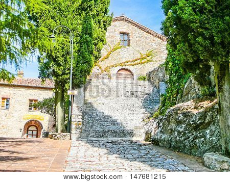 Hdr Rocca Di Castiglione Orcia, Italy