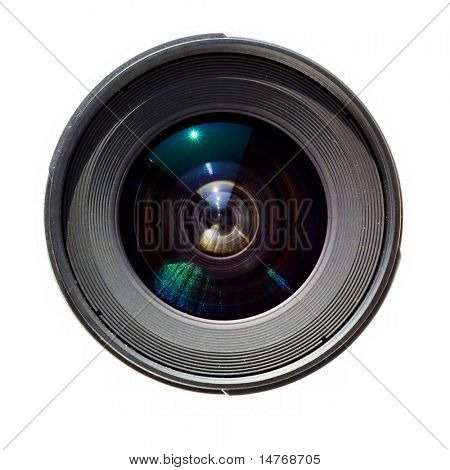 Isolated lens on white background