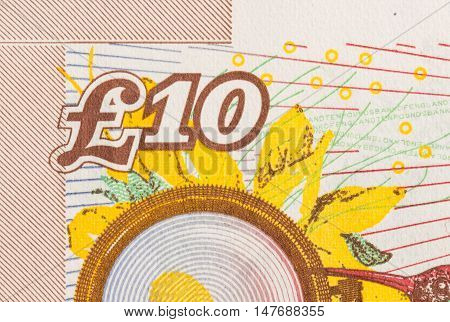 Pound Currency Background - 10 Pounds