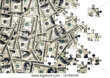 Puzzle A lot of dollars in hundred bills