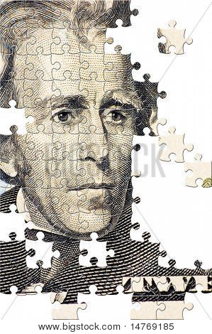 Puzzle Jackson on a $20 bill
