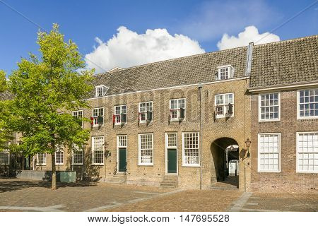 NETHERLANDS - DORDRECHT - MEDIA SEPTEMBER 2016: courtyard of the Augustinian monastery.