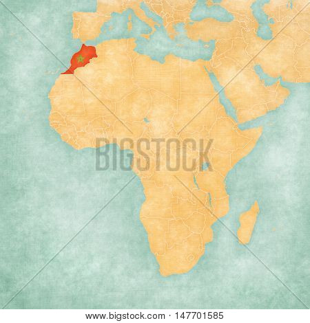 Map Of Africa - Morocco
