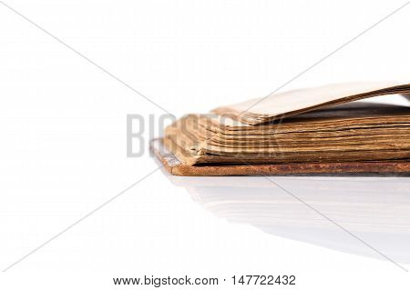 Open Book Blank On White