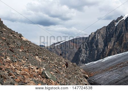 Aktru Glacier In Altay Mountains, Russia