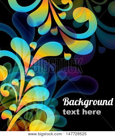 Abstract vector background with place for text.