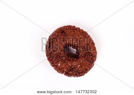 Tasty Chocolate Doughnut On A White Background