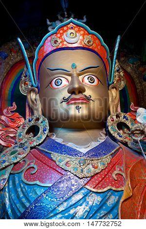 Statue Of Guru Padmasabhava At Hemis Gompa, Ladakh