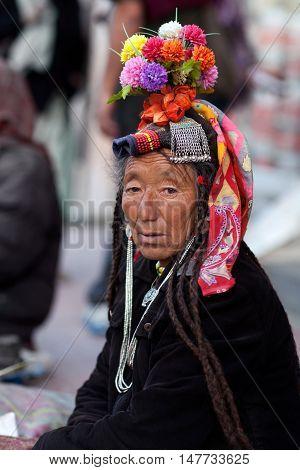 Ladakhi Woman, India