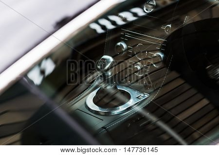 View On The Gearstick Of A Luxury Sports-car