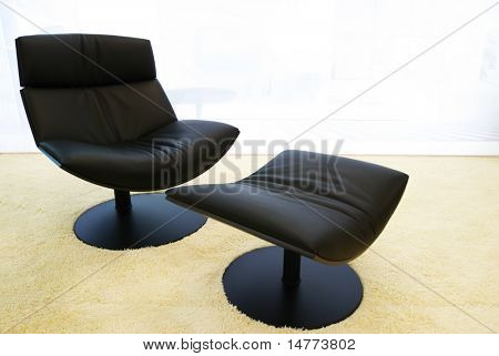 Morern office cosy black chair