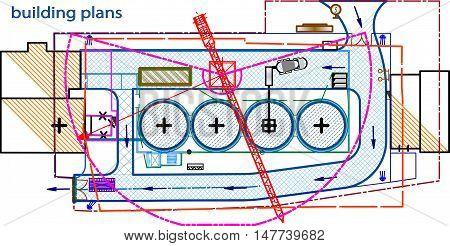 area, construction site, building the border, tostorage area, building plans, crane, the construction passage