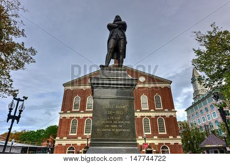 Faneuil Hall And Samuel Adams Monument
