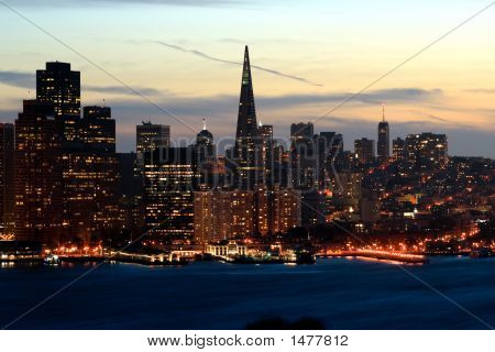 Night San Francisco Skyline