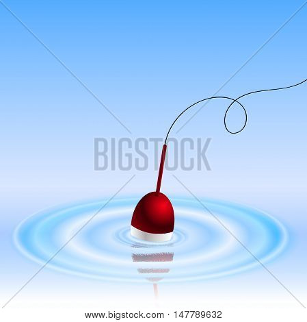 Float fishing line and hook background Illustration eps 10