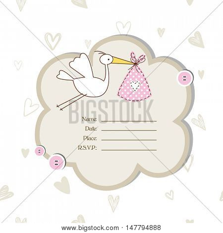 Cute Baby shower invitation with copy space