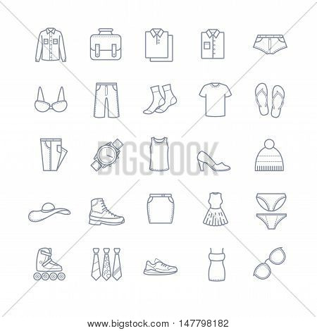 Clothes icons, stock vector for your design